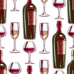 wine and wineglasses
