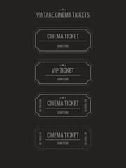 Vector set of vintage cinema tickets