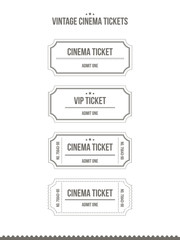 Vector set of vintage cinema tickets