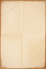 Retro background - old vintage scratched paper. Vector illustrat