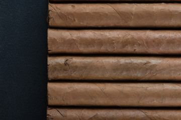 Background made from cuban cigars