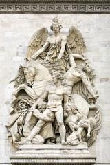 La Resistance de 1814, Arc de Triomphe, Paris, France