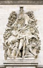 La Paix de 1815, Arc de Triomphe, Paris, France