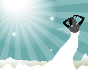 silhouette di sposa