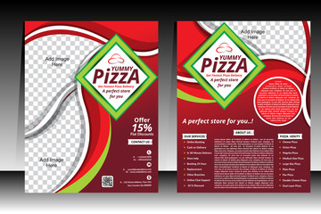 Piizza Flyer design template vector illustration