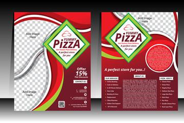 Piizza Flyer design template vector illustration