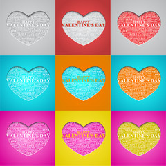 Valentine's Day, heart with a congratulation inside