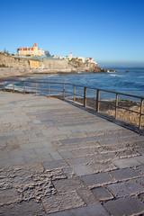 Cascais esplanade along Atlantic Ocean in Estoril, Portugal.