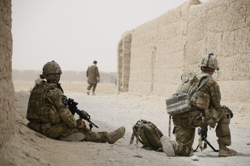 US Troops Patrol In Maiwand Afghanistan