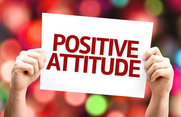 Positive Attitude card with colorful background