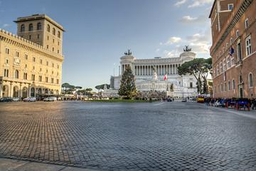 Piazza Venezia e Vittoriano nel periodo natalizio - Roma