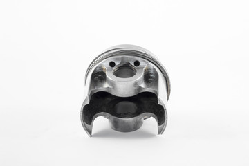 the silver piston of the combustion engine