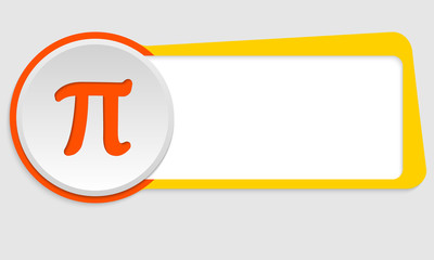 yellow frame for text and pi symbol