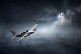 Aeroplane in thunderstorm