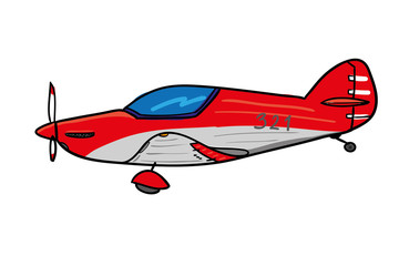 Sport aircraft - cartoon