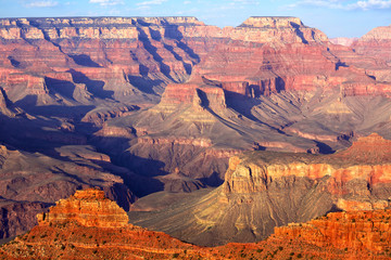 South Rim Grand Canyon before sunset, Arizona, US