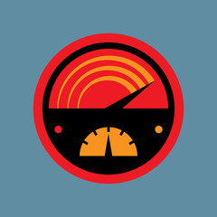 Car instruments icon or sign, vector illustration