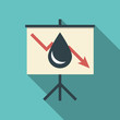 Oil price fall concept illustration with black drop symbol and - 75897420