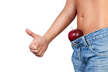 Ragazza magra a dieta