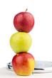 Äpfel auf einer Waage