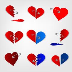 pinned hearts