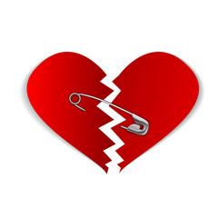 22 pinned heart