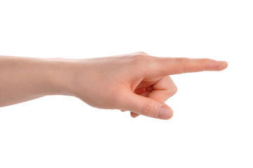 Index finger pointing direction