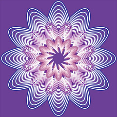 purple flower from three layers of curves