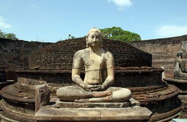 Buddha Statue in Vatadage, Polonnaruwa, Sri Lanka