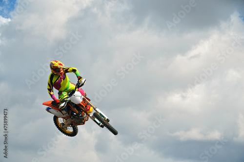 obraz lub plakat MX rider na motocyklu w powietrzu