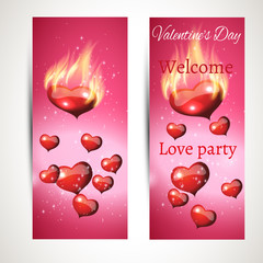 set of banners for the party. vector