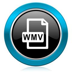 wmv file glossy icon