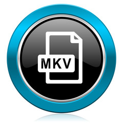 mkv file glossy icon