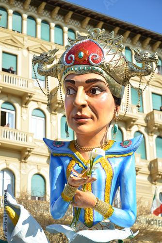 Papiers peints Carnaval carro mascherato a Viareggio