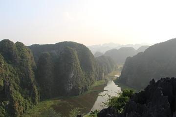 Paisaje en Hang Mua. Provincia de Hoa Lu. Vietnam