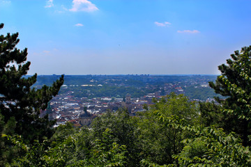 view to the house-tops in Lvov city