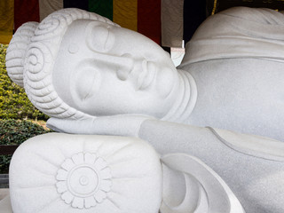 Sleeping Buddha at Koshoji temple in Uchiko
