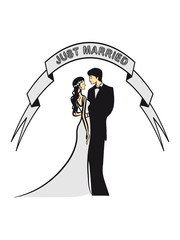 Marriage happy just married