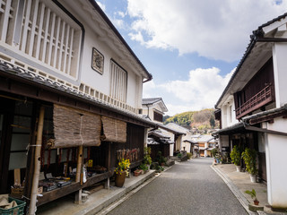Traditional merchant Japanese houses in Uchiko