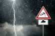 Bad Weather - Caution - Risk of Storm and Thunderstorms - 75902804
