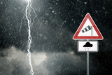 Bad Weather - Caution - Risk of Storm and Thunderstorms