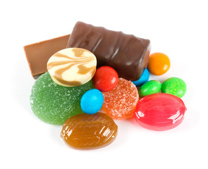 Mixed colorful sweet candies