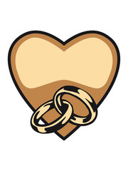 Marriage happy heart love rings