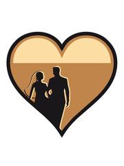 Marriage happy heart