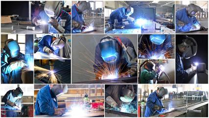 Collage Schweißer // welder at work