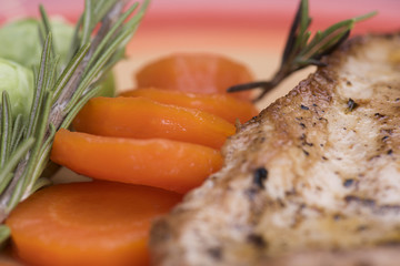 Grilled turkey with rosemary
