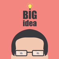 Light bulb idea and head