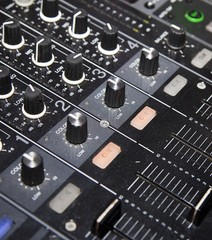DJ mixer ready for party music