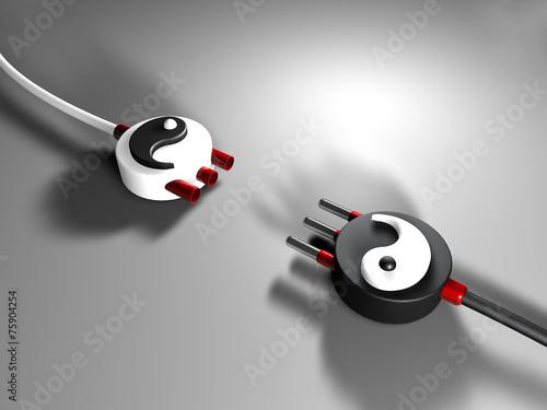 Leinwanddruck Bild Spina Yin Yang