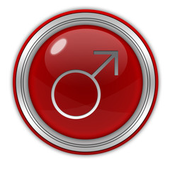Male circular icon on white background
